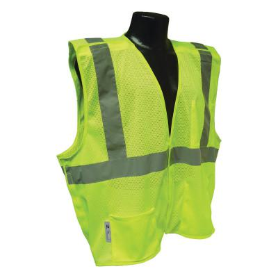 RADIANS SV4 Economy Type R Class 2 Breakaway Safety Vests, X-Large, Hi-Viz Green
