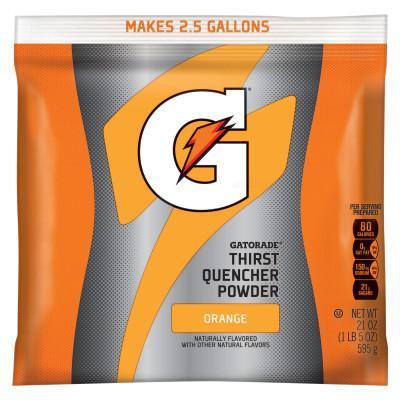 GATORADE Instant Powder, Orange, 21 oz, Pack