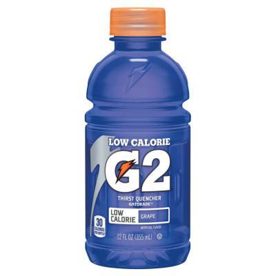GATORADE G2 Low Calorie Thirst Quencher, Grape, 12 oz, Bottle
