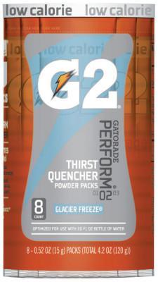 GATORADE G2 Powder Packets, Glacier Freeze, 0.52 oz, Packet