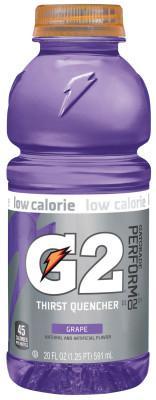 GATORADE G2 20 Oz. Wide Mouth, Grape, Bottle