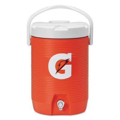 GATORADE Beverage Cooler, 3 gal, Orange/White
