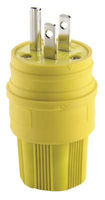 COOPER WIRING DEVICES 15 AMP YLW PLUG INDUSTRIAL WATERTIGHT ELASTOMERI
