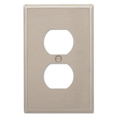 COOPER WIRING DEVICES WALLPLATE 1G DUPLEX RECEPTACLE MID SS