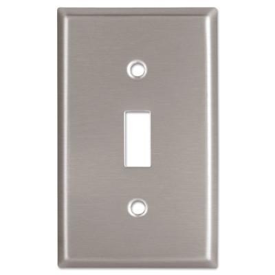 COOPER WIRING DEVICES WALLPLATE 1G TOGGLE RECEPTACLE MID SS