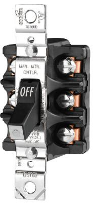 COOPER WIRING DEVICES MAN CONT 30A 600VAC 3P ST FRONTWIRE BK