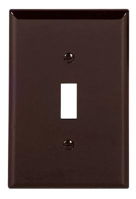 COOPER WIRING DEVICES WALLPLATE 1G TOGGLE POLYMID BR