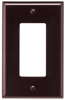 COOPER WIRING DEVICES WALLPLATE 1G DECORATOR POLY MID BR