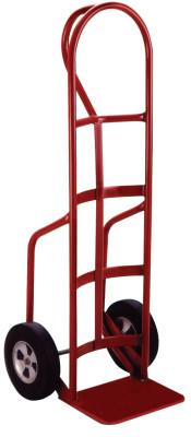 MILWAUKEE HAND TRUCKS Heavy Duty Hand Truck, 800 lb Cap,10 in x 14 in Base Plate, 51 in, P-Handle Handle, Solid Rubber
