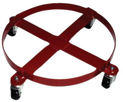 MILWAUKEE HAND TRUCKS Welded Drum Dolly, 4-Wheel, 800 lb, 6-1/4 in h x 30-1/2 in w