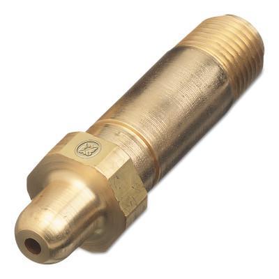 "WESTERN ENTERPRISES Regulator Inlet Nipples, Nitrous Oxide, 1/4""(NPT), 2 1/2"", Brass, CGA-326"
