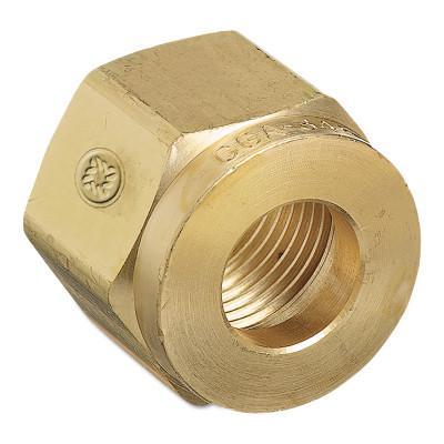 WESTERN ENTERPRISES Regulator Inlet Nuts, Air, Brass, CGA-346