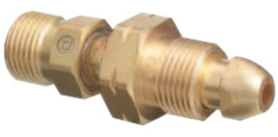 WESTERN ENTERPRISES Brass Cylinder Adaptors, CGA-510 POL Acetylene To CGA-300 Commercial Acetylene