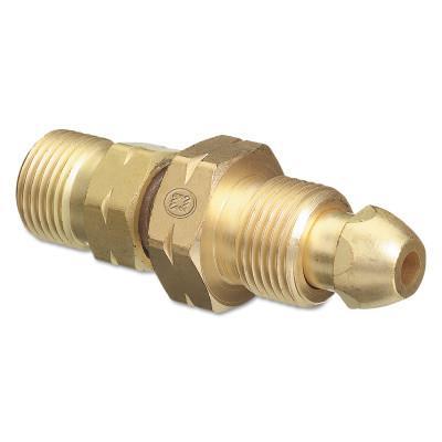 WESTERN ENTERPRISES Brass Cylinder Adaptors, CGA-510 POL Acetylene To CGA-410 Canadian Acetylene