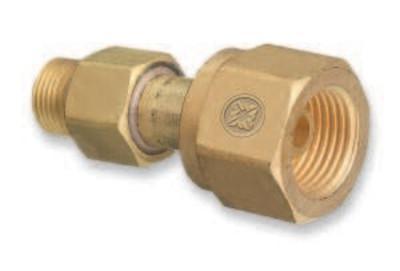 "WESTERN ENTERPRISES Brass Cylinder Adaptors, CGA-300 Commercial Acetylene To CGA-200 ""MC"" Acetylene"