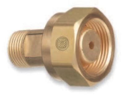 WESTERN ENTERPRISES Brass Cylinder Adaptors,CGA-520 B Tank Acetylene To CGA-300 Commercial Acetylene