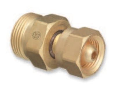 "WESTERN ENTERPRISES Brass Cylinder Adaptors, From CGA-200 ""MC"" Acetylene To CGA-520 ""B"" Tank"