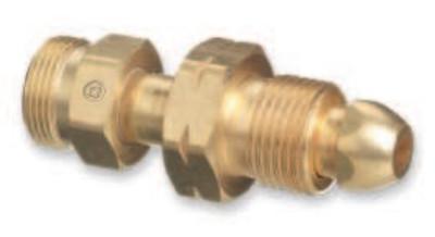 "WESTERN ENTERPRISES Brass Cylinder Adaptors, From CGA-510 POL Acetylene To CGA-520 ""B"" Tank"