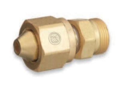 """WESTERN ENTERPRISES Brass Cylinder Adaptors, From CGA-300 Commercial Acetylene To CGA-520 """"B"""" Tank"""