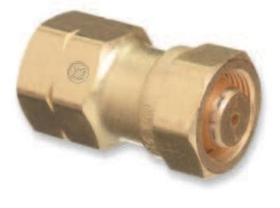 "WESTERN ENTERPRISES Brass Cylinder Adaptors, CGA-520 ""B"" Tank Acetylene To CGA-510 POL Acetylene"