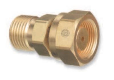 "WESTERN ENTERPRISES Brass Cylinder Adaptors,CGA520 ""B"" Tank Acetylene To CGA300 Commercial Acetylene"