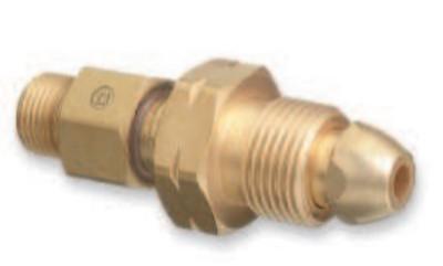 "WESTERN ENTERPRISES Brass Cylinder Adaptors, From CGA-510 POL Acetylene To CGA-200 ""MC"" Acetylene"