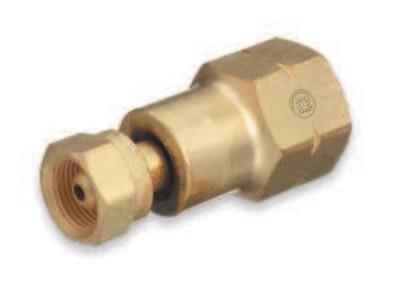 "WESTERN ENTERPRISES Brass Cylinder Adaptors, From CGA-200 ""MC"" Acetylene To CGA-510 POL Acetylene"
