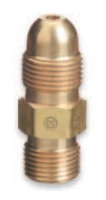 CGA-510 POL Acetylene Cylinder//Tank to CGA-520 B Tank Adaptor # 315