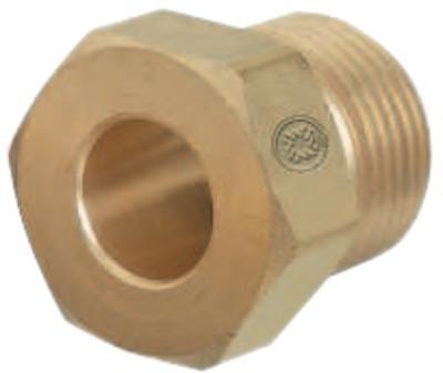 WESTERN ENTERPRISES Regulator Inlet Nuts, Argon; Helium; Nitrogen, Brass, CGA-580