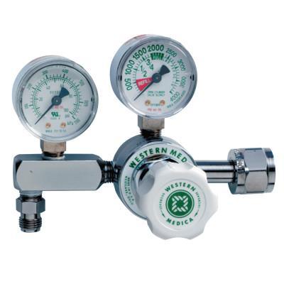 WESTERN ENTERPRISES M1 Series Pressure Gauge Regulator, Oxygen, 4000 psi Inlet Pressure