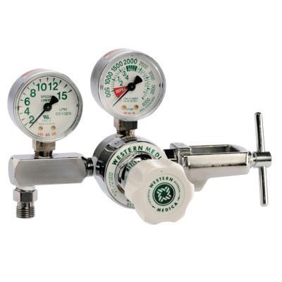 WESTERN ENTERPRISES M1 Series Flow Gauge Regulators, Oxygen, 2-15 LPM, CGA-870 Yoke, 3,000 psi inlet