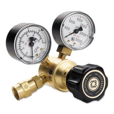WESTERN ENTERPRISES Flow Gauge Regulators, Argon, 0-35 SCFH, CGA 580, 3,000 psig inlet