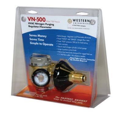 WESTERN ENTERPRISES VN Series HVAC Nitrogen-Purging Regulators/Flowmeters, Nitrogen, 35 CFH, CGA-580
