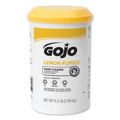 GOJO Lemon Pumice Hand Cleaners, Lemon, Cartridge, 4 1/2 lb