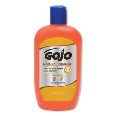 GOJO Natural Orange Smooth Hand Cleaners, Citrus, Squeeze Bottle, 14 oz
