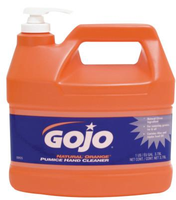 GOJO Natural Orange Pumice Hand Cleaners, Citrus, Bottle w/Pump, 1 gal