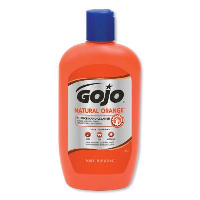 GOJO Natural Orange Pumice Hand Cleaners, Citrus, Squeeze Bottle, 14 oz