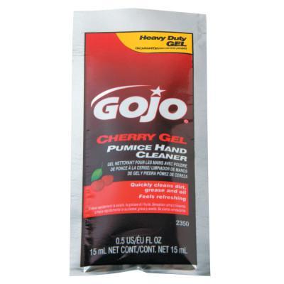 GOJO Cherry Gel Pumice Hand Cleaners, Cherry, Packet, 1/2 oz