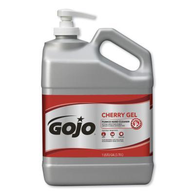 GOJO Cherry Gel Pumice Hand Cleaners, Cherry, Bottle w/Pump, 1 gal