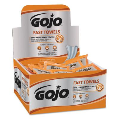 GOJO FAST WIPES Hand Cleaning Towels, Citrus, Wet Wipe Display Pack