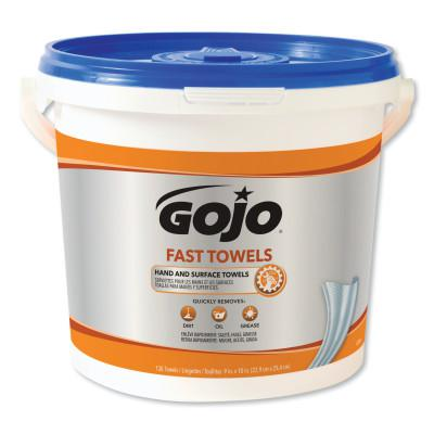 GOJO FAST WIPES Hand Cleaning Towels, Citrus, Wet Wipe Bucket, 130