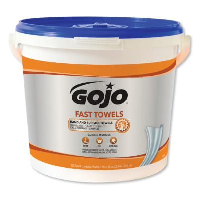 GOJO FAST WIPES Hand Cleaning Towels, Citrus, Wet Wipe Bucket, 225