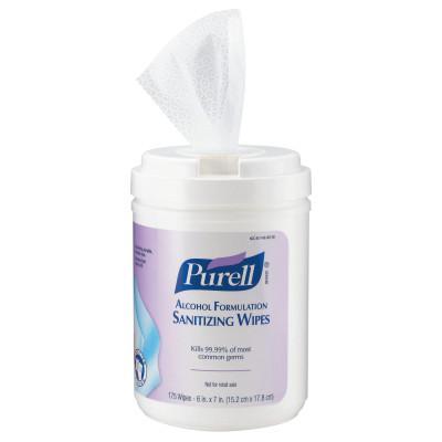 PURELL Purell Alcohol Formulation Sanitizing Wipes, White