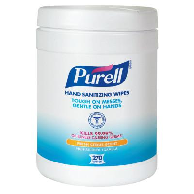 PURELL Purell Instant Hand Sanitizer Wipes, Citrus Scent, 270/Canister