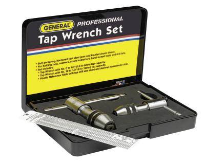 GENERAL TOOLS Ratcheting Tap Wrench Sets,  Length, No. 0 - No. 8, No. 12 - 1/2 in Tap Sizes