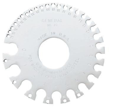 GENERAL TOOLS Sheet Metal Gages, #0-#36, Chrome