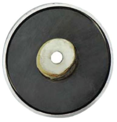 GENERAL TOOLS Shallow Pot Ceramic Magnets, 35 lb, 2 5/8 in Dia.