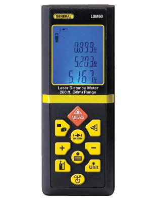 GENERAL TOOLS LDM60 Laser Distance Meters, 200 ft