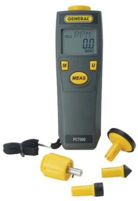 GENERAL TOOLS Contact & Non-Contact Tachometer Kits, Auto Range