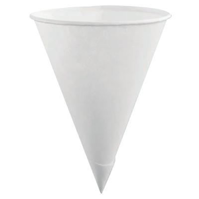 RUBBERMAID HOME PRODUCTS Disposable Paper Cone Cups, 4 oz, White